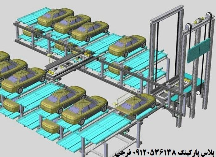 طراحی مدل سازی پارکینگ مکانیزه طبقاتی