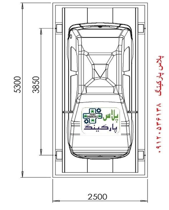 اندازه آسانسور خودرو بر یا بالابر خودرو نوع C